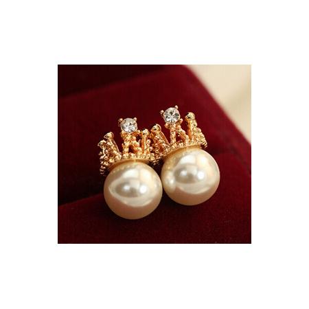 """Auskarai su perlais """"Queen"""""""