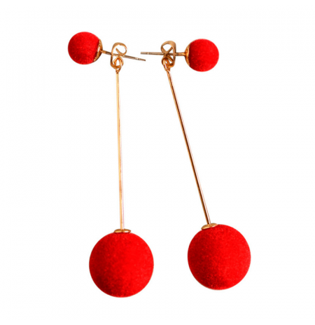 "Auskarai ""Ball"", raudoni"