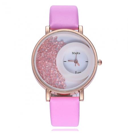"""Laikrodis """"crystal"""", rožinis"""