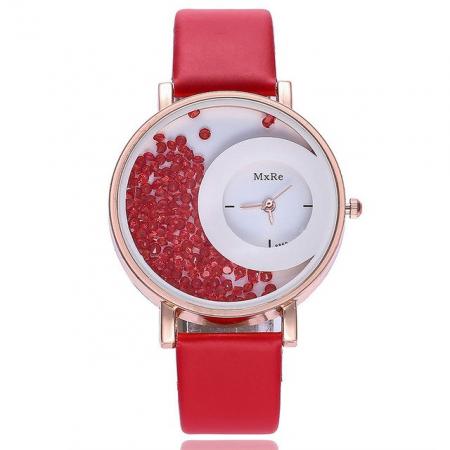 """Laikrodis """"crystal"""", raudonas"""