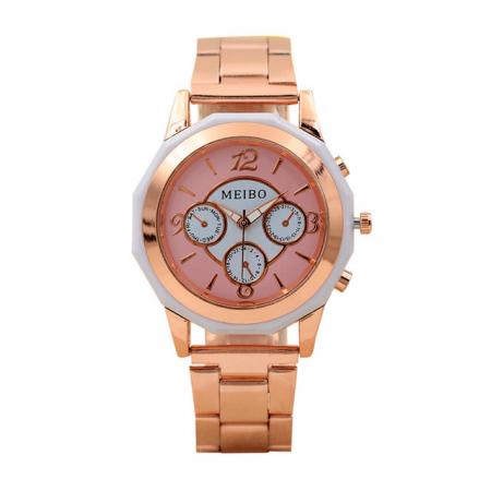 "Laikrodis ""Huans"", rožinis"