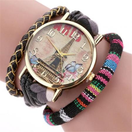 """Laikrodis """"Paryžius"""", juodas"""