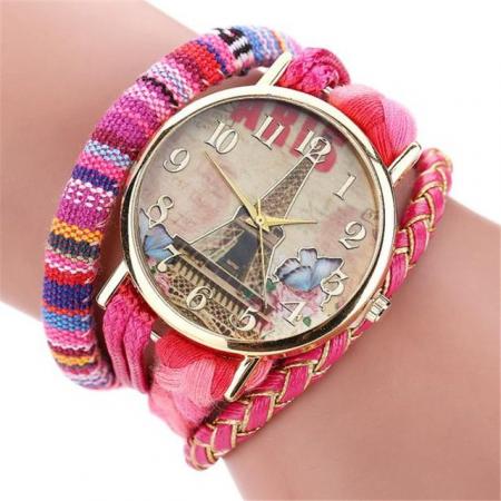"""Laikrodis """"Paryžius"""", rožinis"""