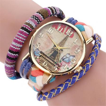 """Laikrodis """"Paryžius"""", mėlynas"""