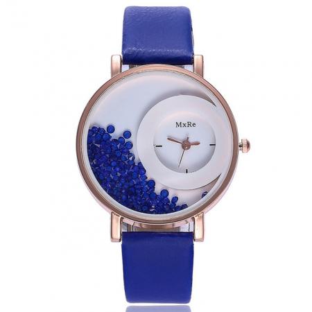 """Laikrodis """"crystal"""", mėlynas"""