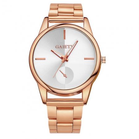 """Laikrodis """"Gaiety"""", auksinis"""