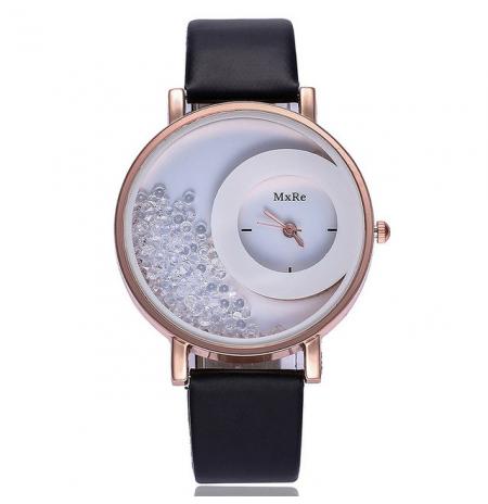 """Laikrodis """"crystal"""", juodas"""