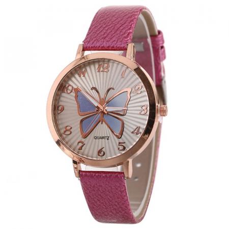 """Laikrodis """"Drugelis"""", rožinis"""