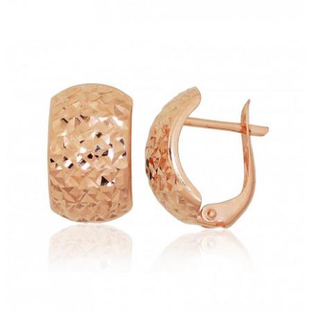 Auksiniai auskarai ant...